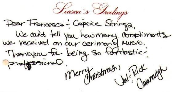 caprice strings testimonial